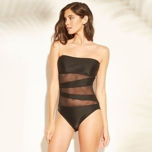 Sexy one piece with sheer bodice in XS